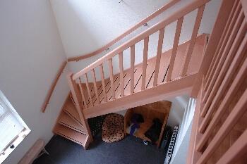 Steek trap met onderkwart